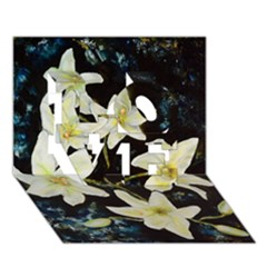 Bright Lilies Love 3d Greeting Card (7x5)