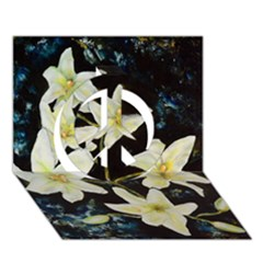 Bright Lilies Peace Sign 3D Greeting Card (7x5)