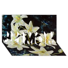 Bright Lilies #1 Mom 3d Greeting Cards (8x4)