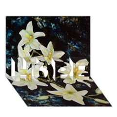 Bright Lilies HOPE 3D Greeting Card (7x5)
