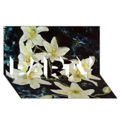 Bright Lilies PARTY 3D Greeting Card (8x4)