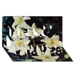 Bright Lilies Best Wish 3d Greeting Card (8x4)