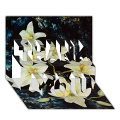 Bright Lilies Thank You 3d Greeting Card (7x5)