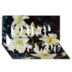 Bright Lilies Laugh Live Love 3D Greeting Card (8x4)