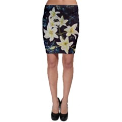 Bright Lilies Bodycon Skirts