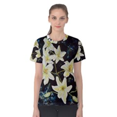 Bright Lilies Women s Cotton Tees