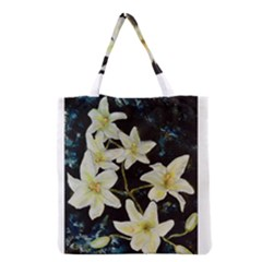 Bright Lilies Grocery Tote Bags