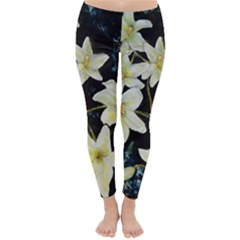 Bright Lilies Winter Leggings