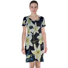 Bright Lilies Short Sleeve Nightdresses