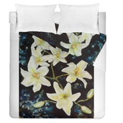 Bright Lilies Duvet Cover (full/queen Size)