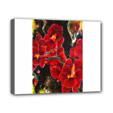 Red Orchids Canvas 10  X 8