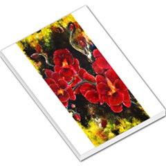Red Orchids Large Memo Pads