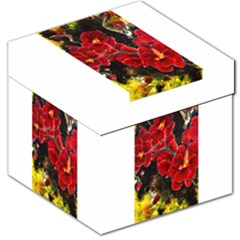 Red Orchids Storage Stool 12