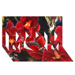 Red Orchids Mom 3d Greeting Card (8x4)