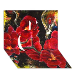 REd Orchids Apple 3D Greeting Card (7x5)