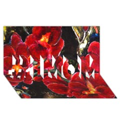 REd Orchids #1 MOM 3D Greeting Cards (8x4)