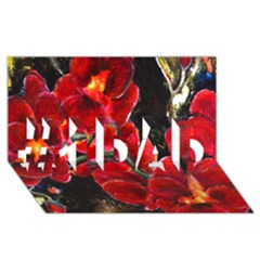 Red Orchids #1 Dad 3d Greeting Card (8x4)