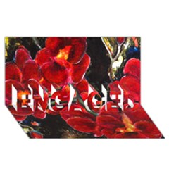 Red Orchids Engaged 3d Greeting Card (8x4)