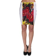 Red Orchids Bodycon Skirts