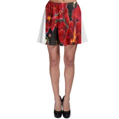 REd Orchids Skater Skirts