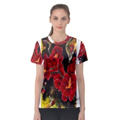 Red Orchids Women s Sport Mesh Tees