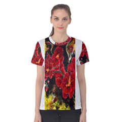 REd Orchids Women s Cotton Tees