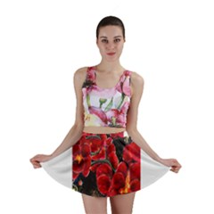 REd Orchids Mini Skirts