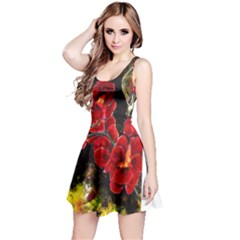 Red Orchids Reversible Sleeveless Dresses