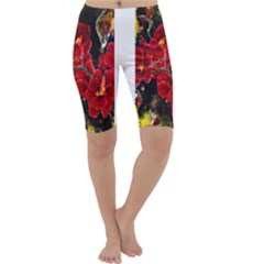 REd Orchids Cropped Leggings