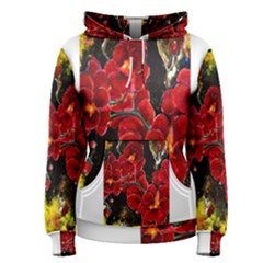 REd Orchids Women s Pullover Hoodies