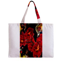 REd Orchids Zipper Tiny Tote Bags