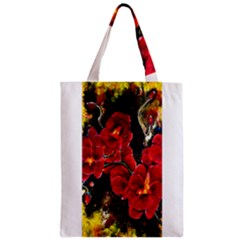 REd Orchids Zipper Classic Tote Bags