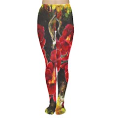 REd Orchids Women s Tights