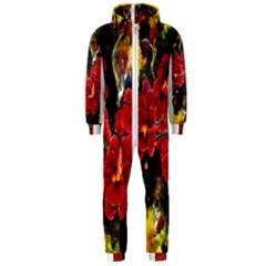 REd Orchids Hooded Jumpsuit (Men)