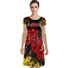 REd Orchids Cap Sleeve Nightdresses