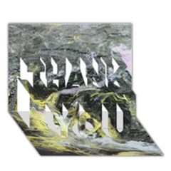 Black Ice THANK YOU 3D Greeting Card (7x5)