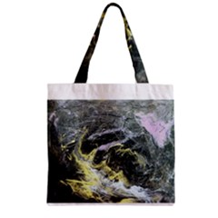 Black Ice Zipper Grocery Tote Bags
