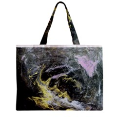 Black Ice Zipper Tiny Tote Bags