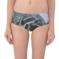 Black Ice Mid-Waist Bikini Bottoms