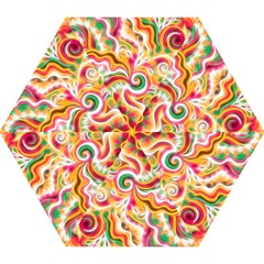 Sunshine Swirls Mini Folding Umbrellas