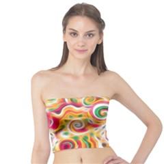 Sunshine Swirls Women s Tube Tops