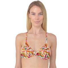 Sunshine Swirls Reversible Tri Bikini Tops