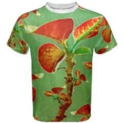 Tropical Floral Print Men s Cotton Tees