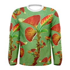 Tropical Floral Print Men s Long Sleeve T-shirt