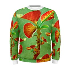 Tropical Floral Print Men s Sweatshirt