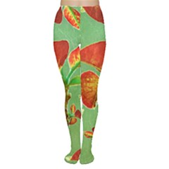 Tropical Floral Print Tights