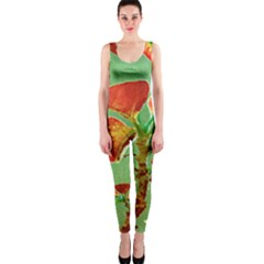 Tropical Floral Print OnePiece Catsuits