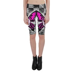 Skull Butterfly Cropped Leggings