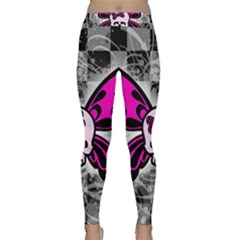 Skull Butterfly Yoga Leggings