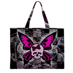Skull Butterfly Zipper Tiny Tote Bags